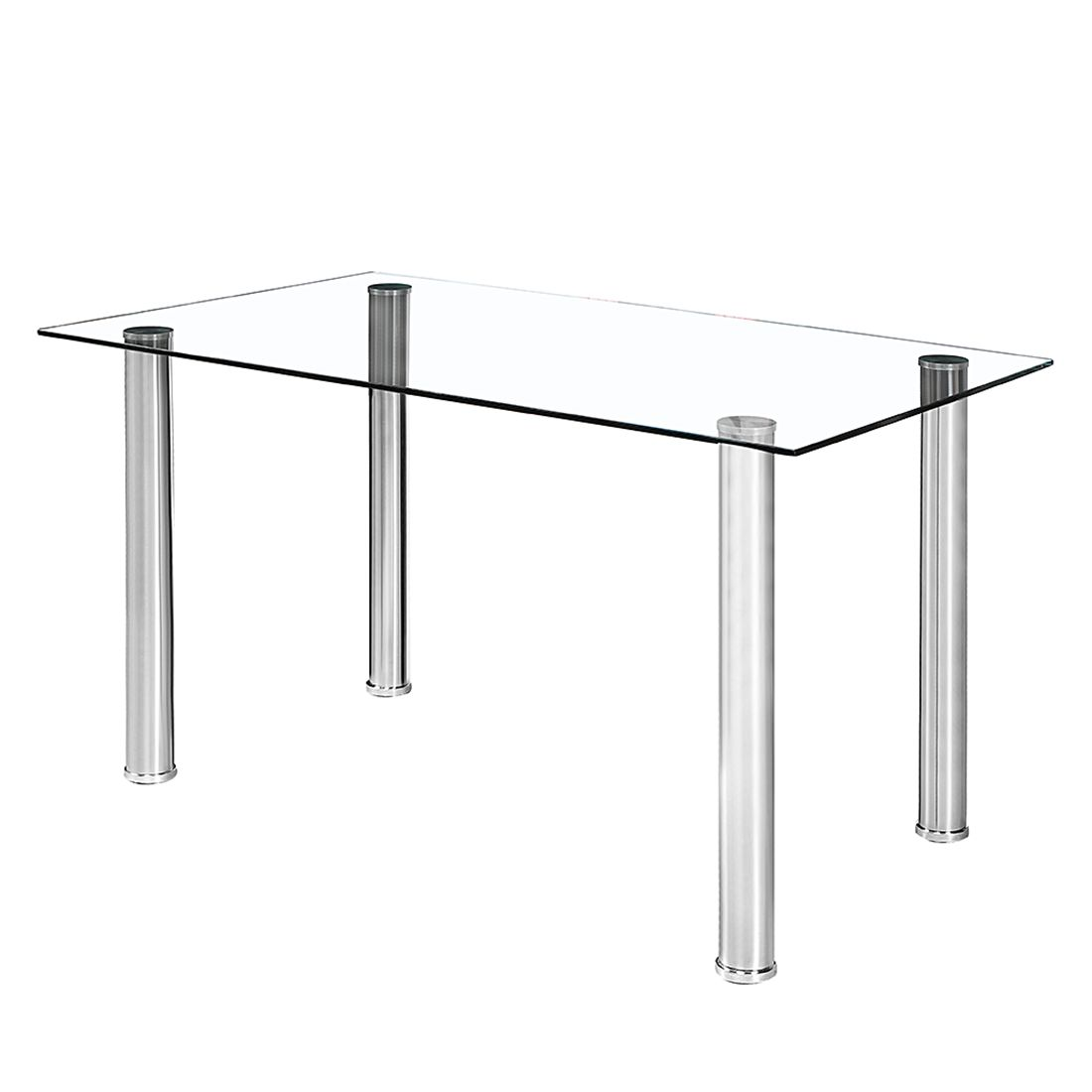Table salon acier 4 for Table extensible glasgow