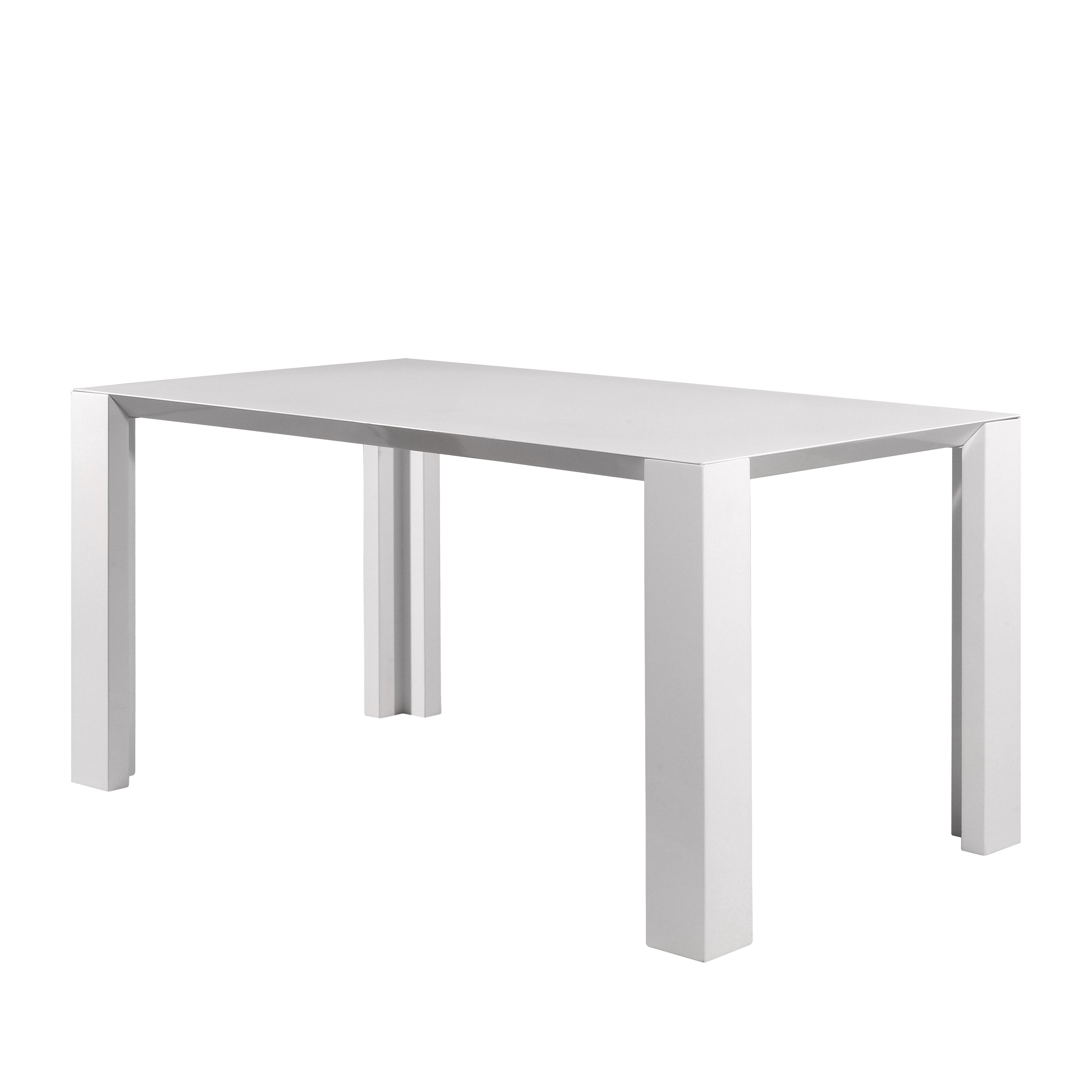 Esstisch Gina – Hochglanz Weiß – Breite: 160 cm, Top Square jetzt bestellen