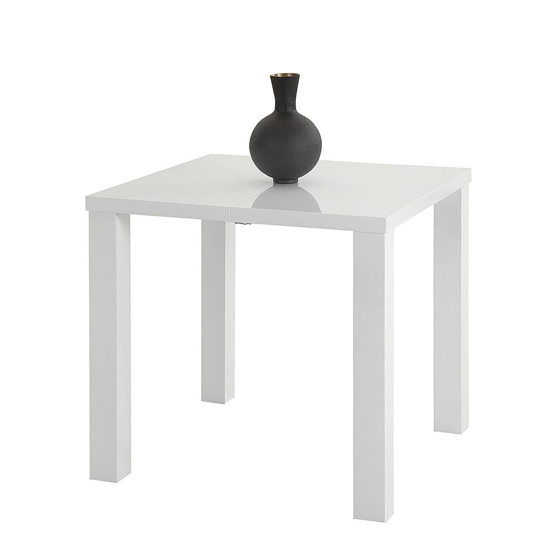 Esstisch Julian (mit Ausziehfunktion) – Hochglanz Weiß, Home Design günstig bestellen