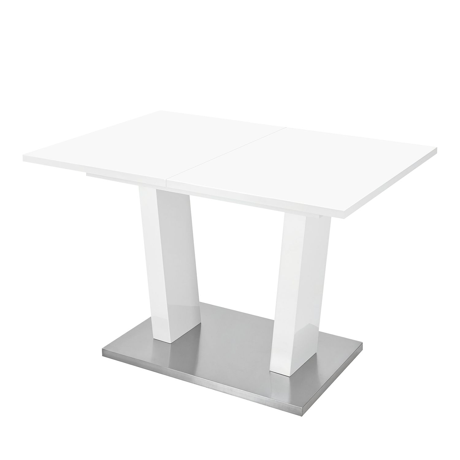 Vente plateau blanc tritoo maison et jardin for Table extractible