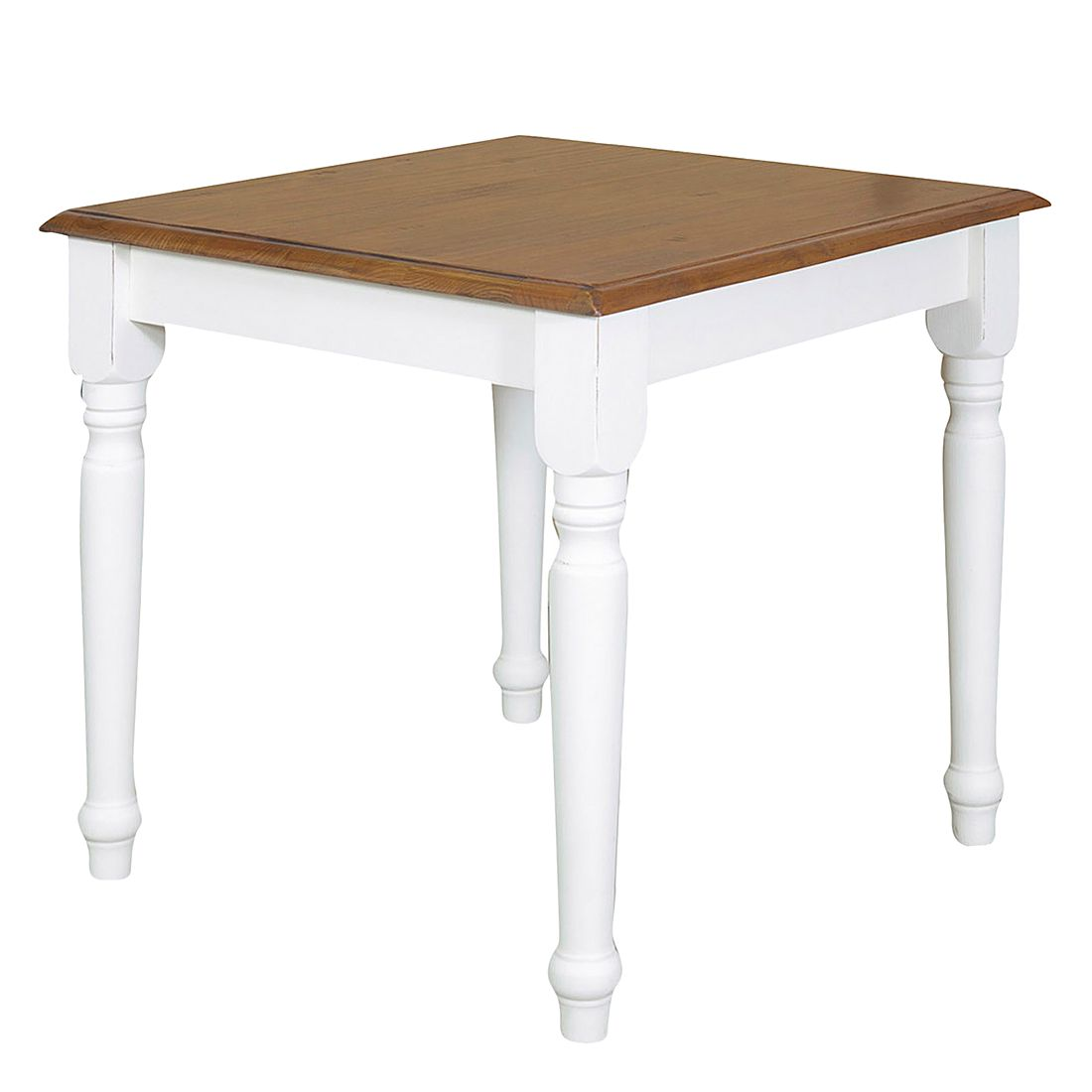 table manger massello ii extractible tilleul massif blanc marron 80 x 80 cm sans. Black Bedroom Furniture Sets. Home Design Ideas