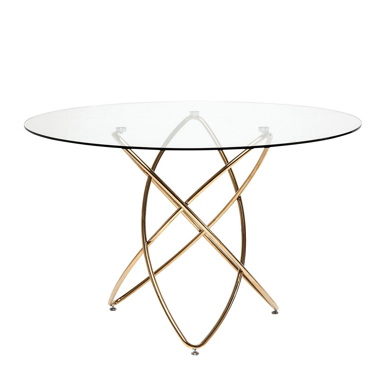 Esstisch Molekular - Glas / Edelstahl Gold, Kare Design