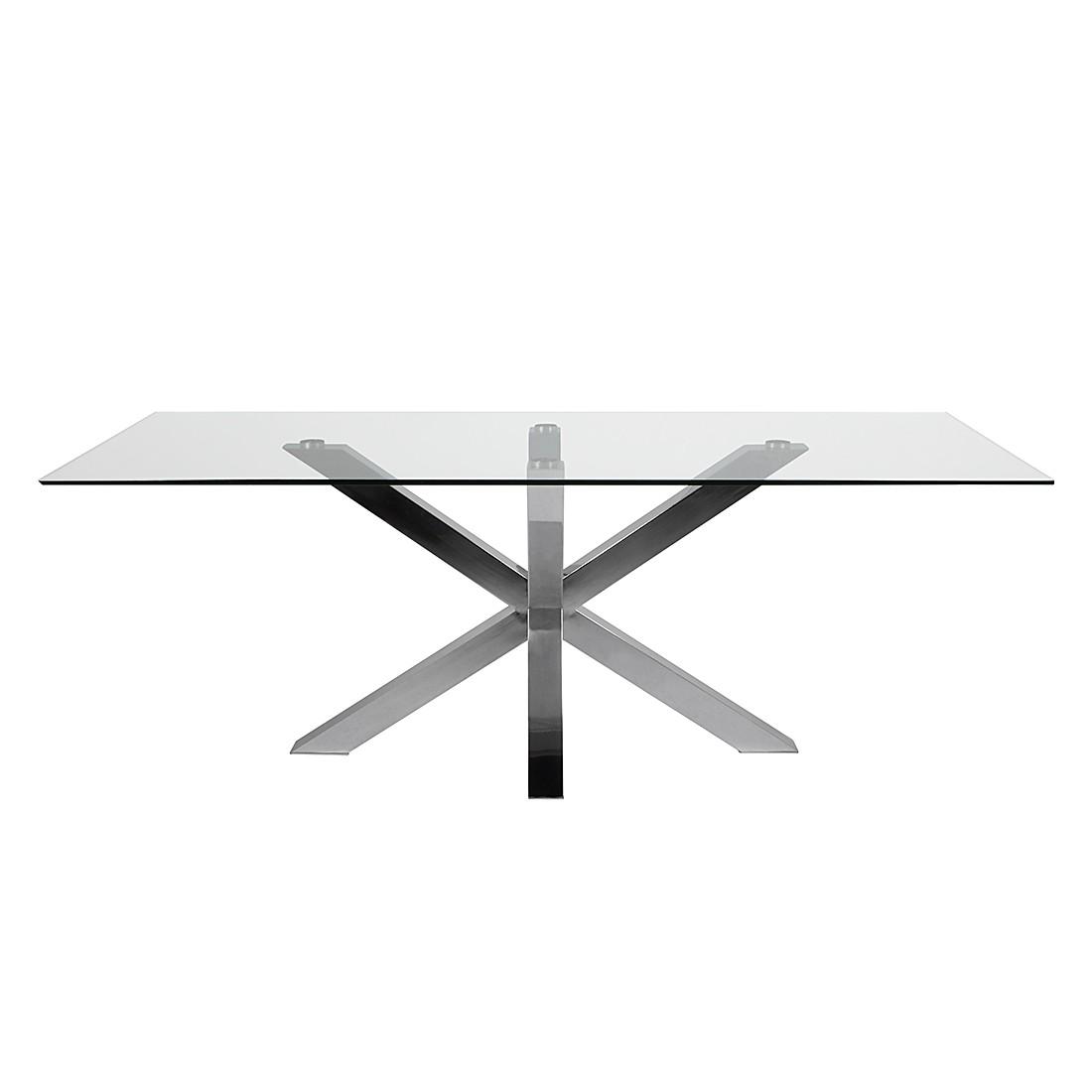 Esstisch Savaria – Glas/Stahl – 200 x 100 cm, furnlab online kaufen