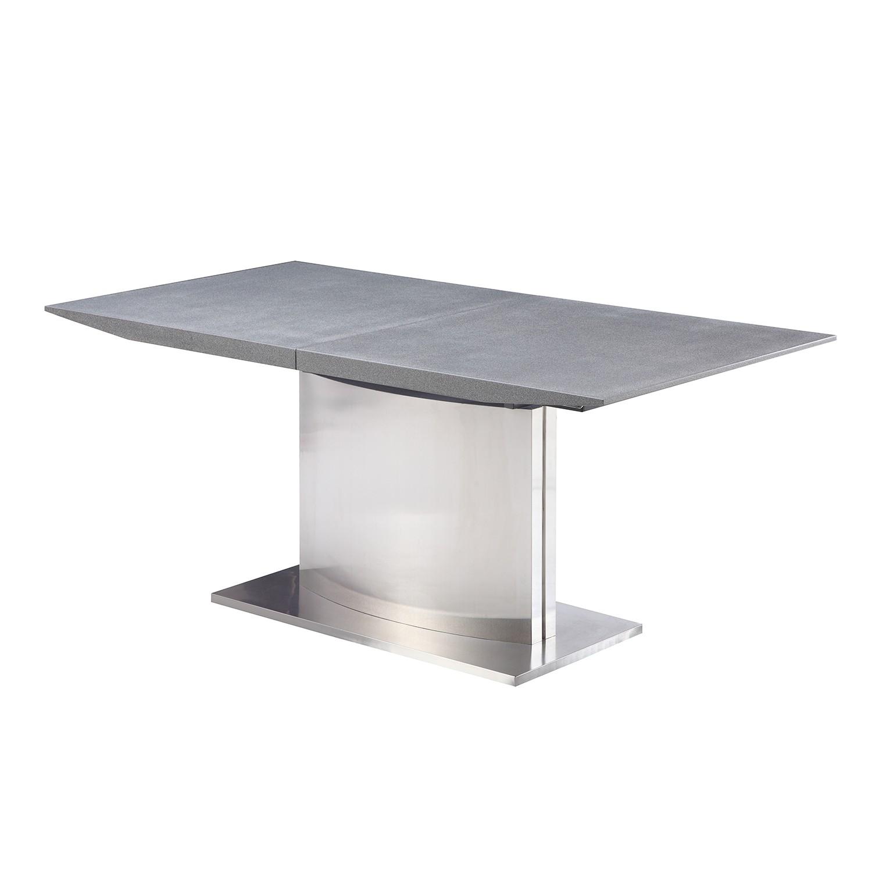 Esstisch Silber Grau ~ Esstisch Toleos (mit Ausziehfunktion) – Grau  Silber, furnlab – MMU001712