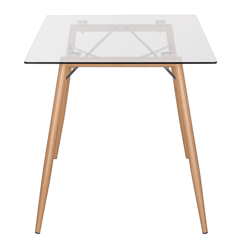 esstisch vaasa glas metall eiche tisch k chentisch esszimmertisch ebay. Black Bedroom Furniture Sets. Home Design Ideas