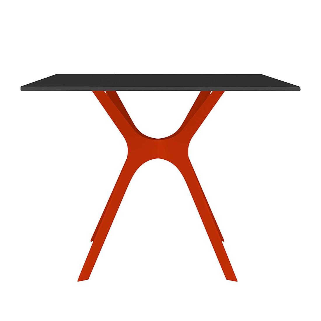 Esstisch Vela II – Schwarz / Rot – 90 x 90 cm, Blanke Design online kaufen