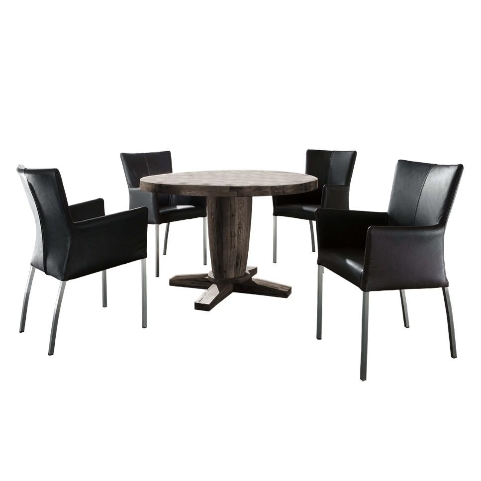 esszimmer tischgruppe castilla 5 teilig echtleder. Black Bedroom Furniture Sets. Home Design Ideas