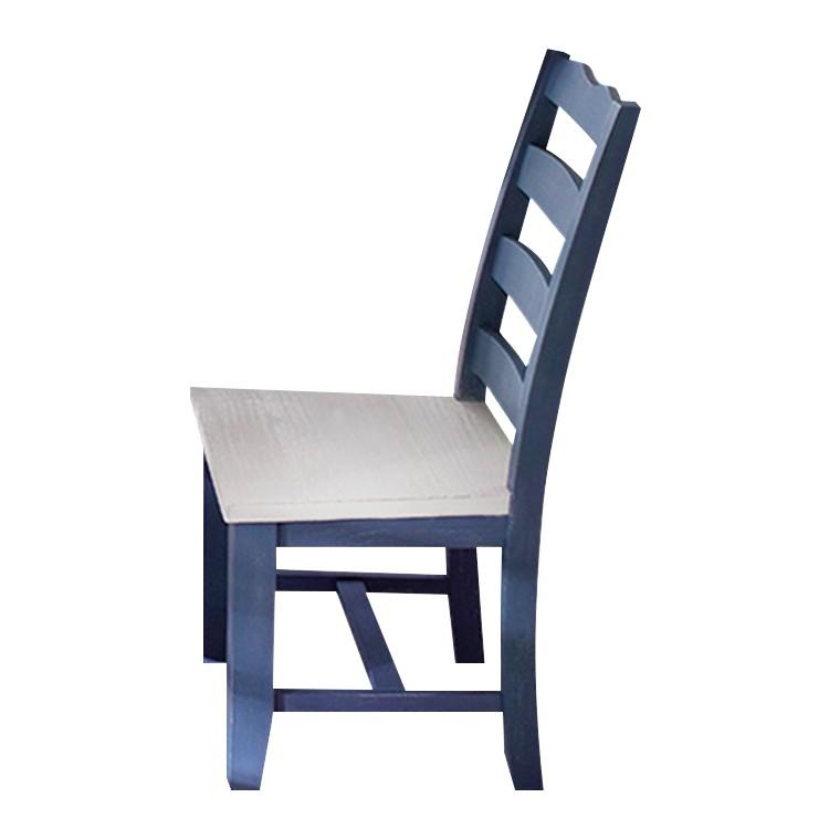 Esszimmerstuhl Felo (2er-Set) – Kiefer massiv – Blau, Maison Belfort günstig kaufen