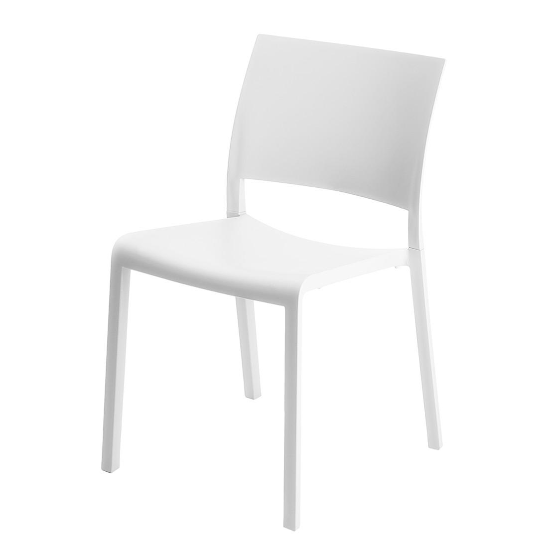 Esszimmerstuhl Fiona (2er-Set) – Kunststoff Weiß, Blanke Design jetzt bestellen