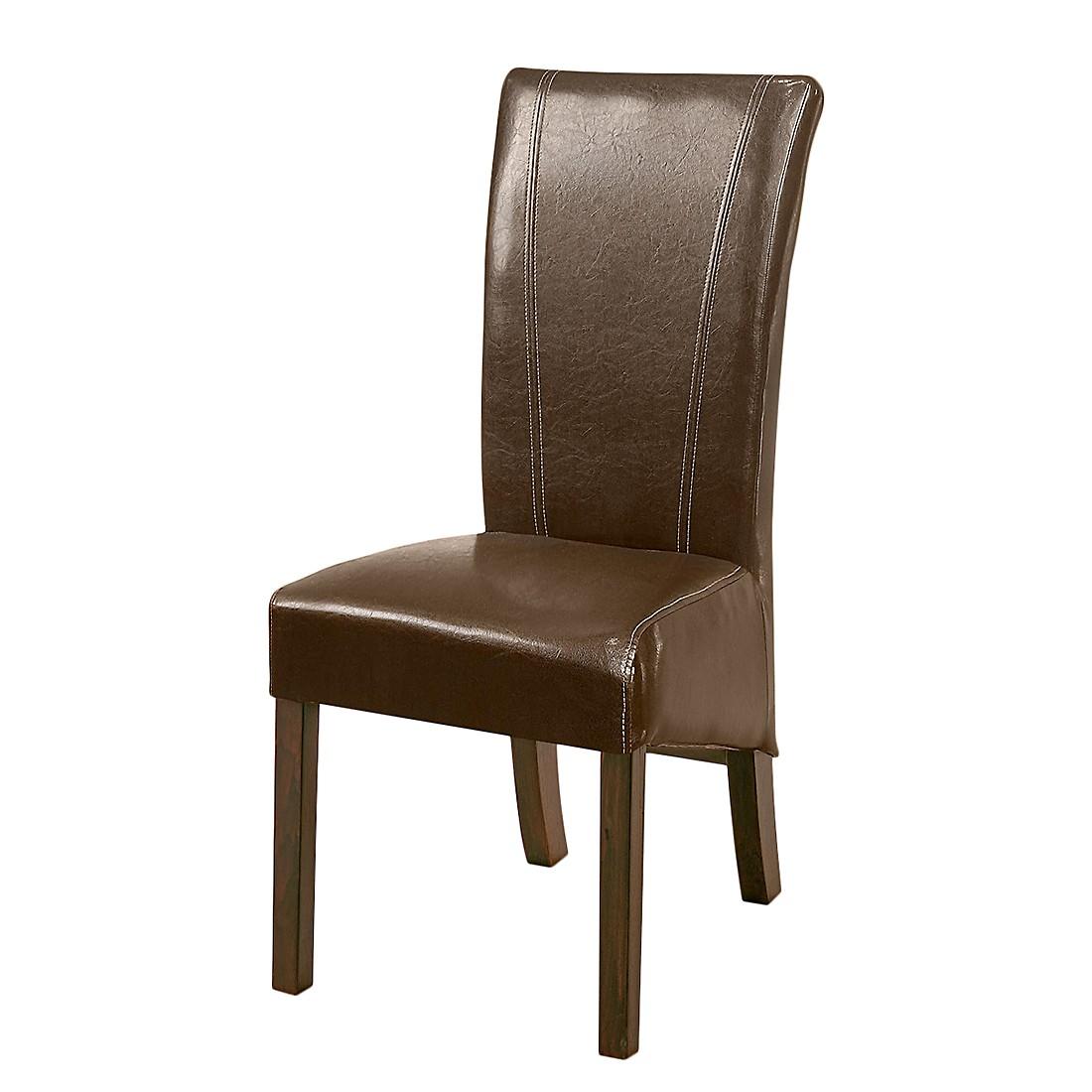 esszimmerstuhl karlsborg 2er set kunstleder braun buche dunkelbraun bellinzona online kaufen. Black Bedroom Furniture Sets. Home Design Ideas