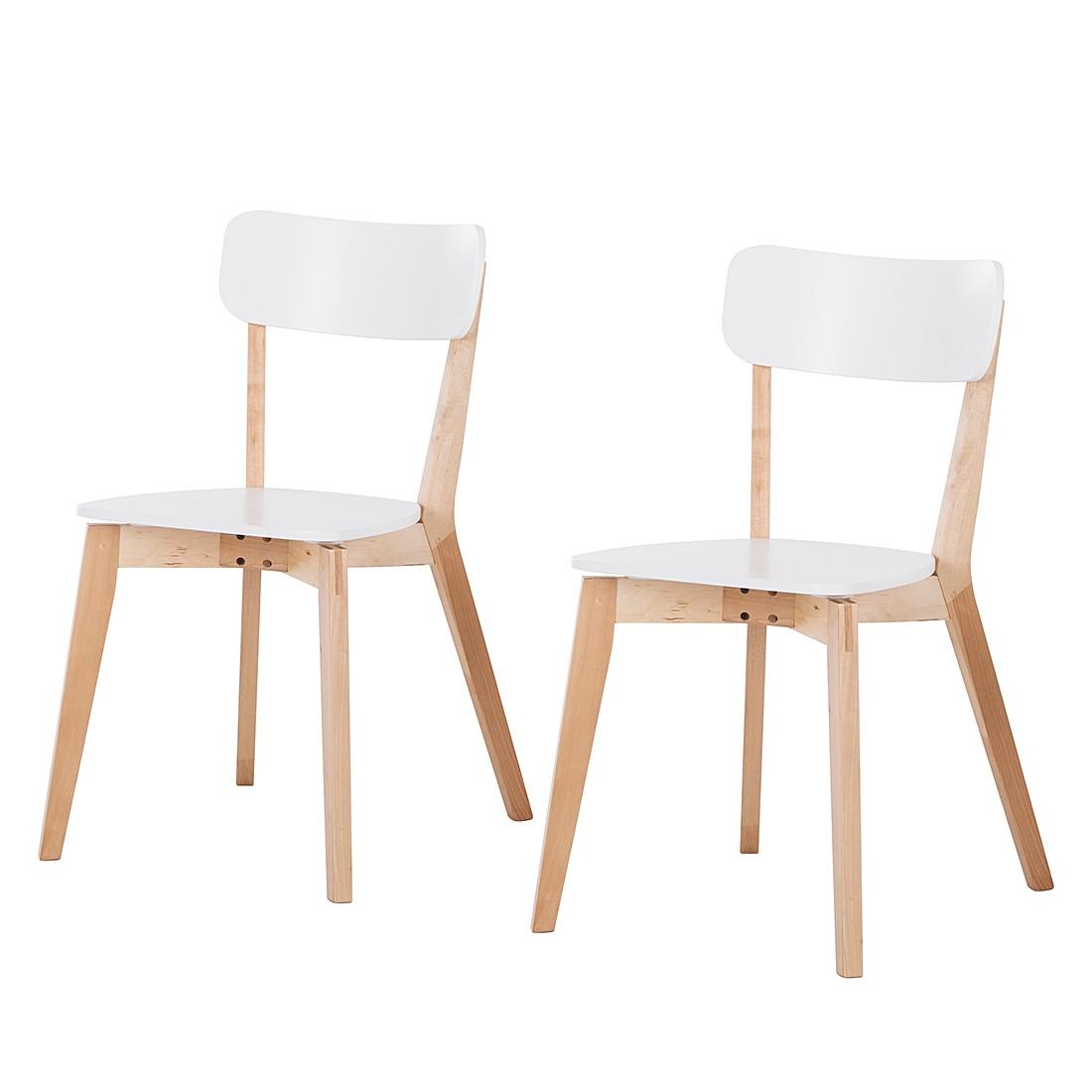 esszimmerstuhl rob 2x wei birke natur hochlehner st hle. Black Bedroom Furniture Sets. Home Design Ideas