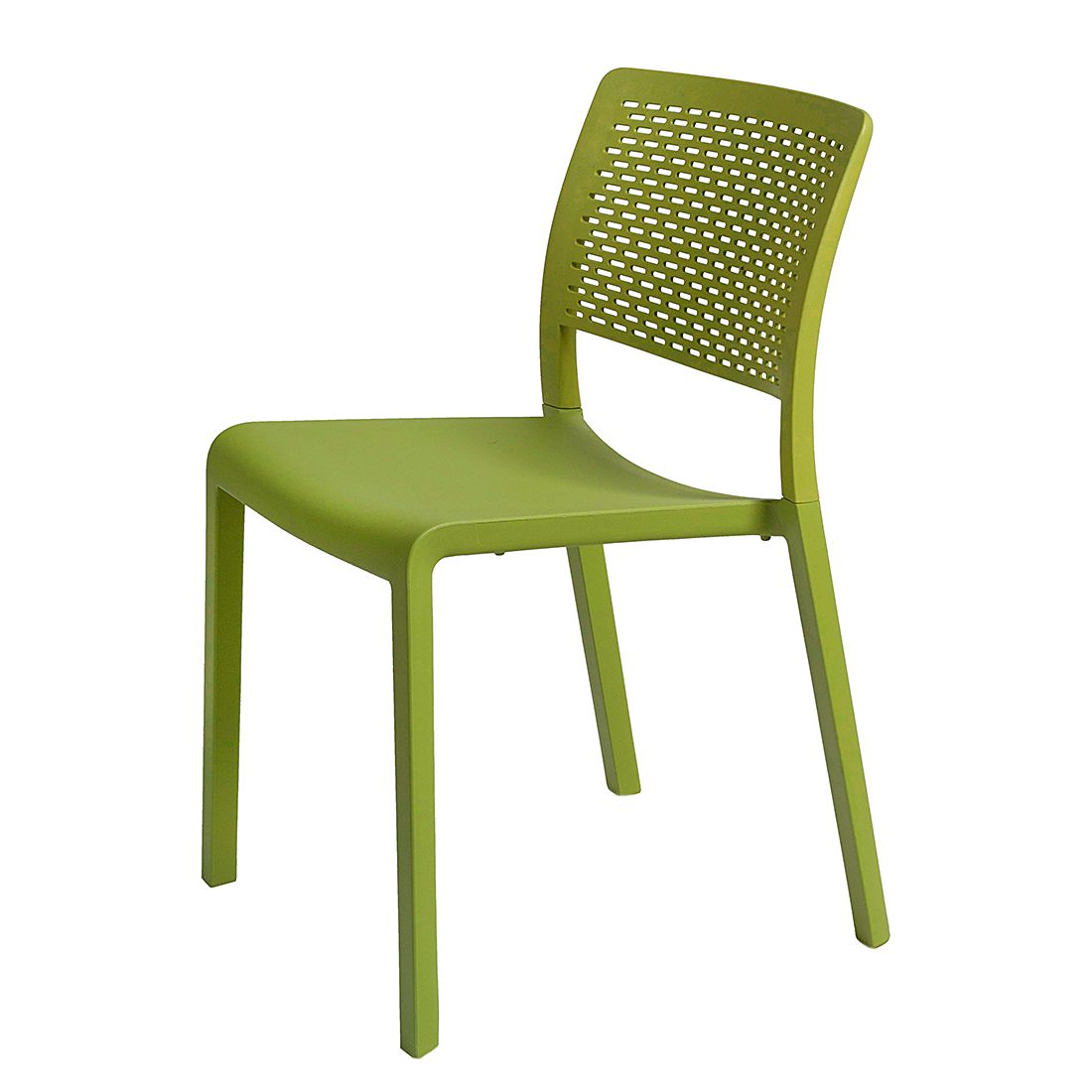 Esszimmerstuhl Trama (2er-Set) - Kunststoff - Olivgrün, Viggo