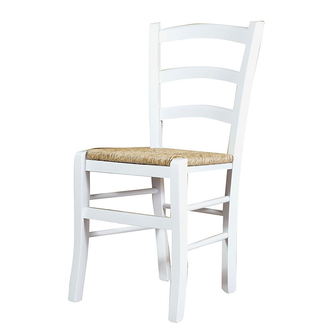 Esszimmerstuhl Viani (2er-Set) – Buche massiv – Weiß, Biscottini kaufen