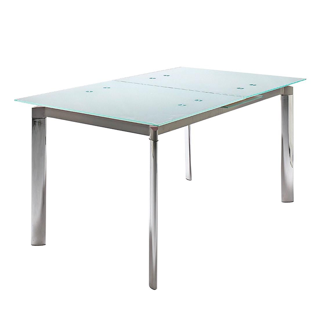 Tavolo Per Sala Da Pranzo Place (allungabile) Vetro Sabbiato Cromo  #3C8F84 1100 1100 Misure Minime Sala Da Pranzo