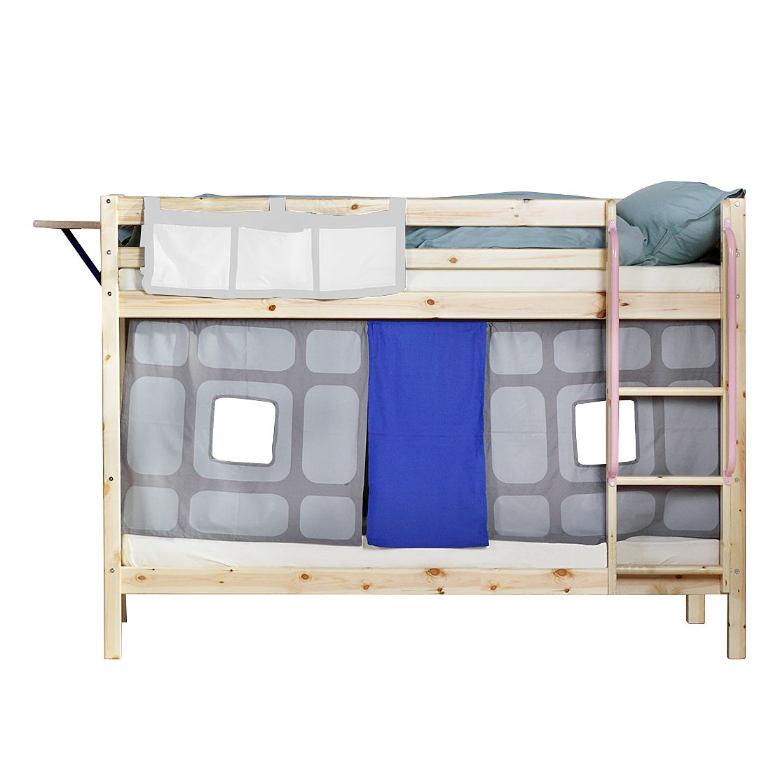 Etagenbett Hit II – Kiefer massiv/Textil – Natur/Ritter, Flexa günstig kaufen