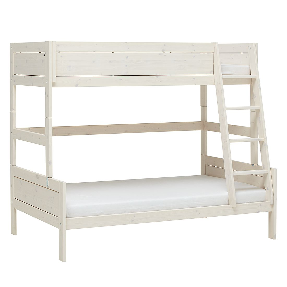 Etagenbett Lifetime Original - Kiefer massiv - Whitewash - Liegefläche: 90/120 x 200 cm - mit Rollrost, Lifetime Kidsrooms