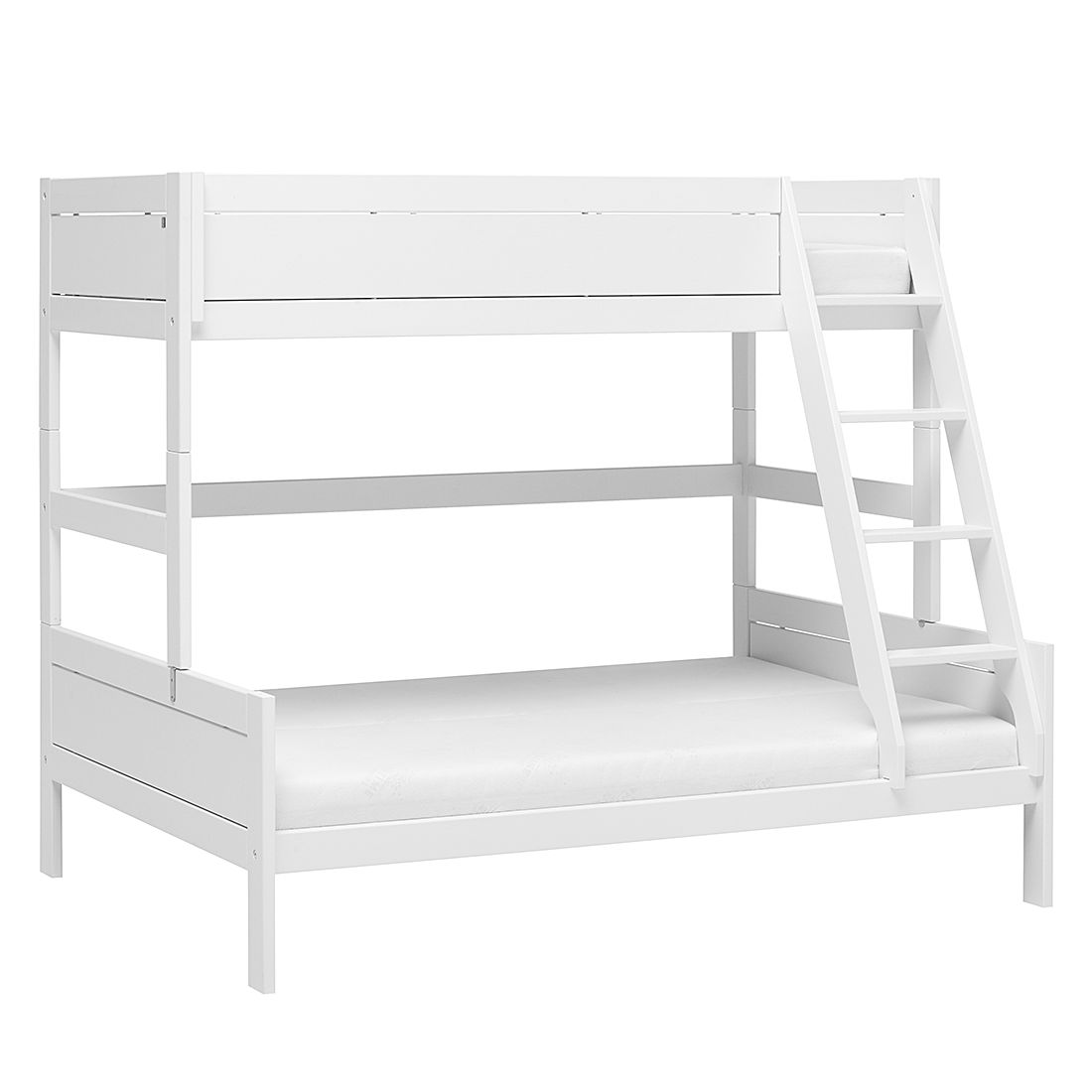 Etagenbett Lifetime Original - Kiefer teilmassiv - Weiß - Liegefläche: 90/140 x 200 cm - mit Rollrost & Bettkasten, Lifetime Kidsrooms