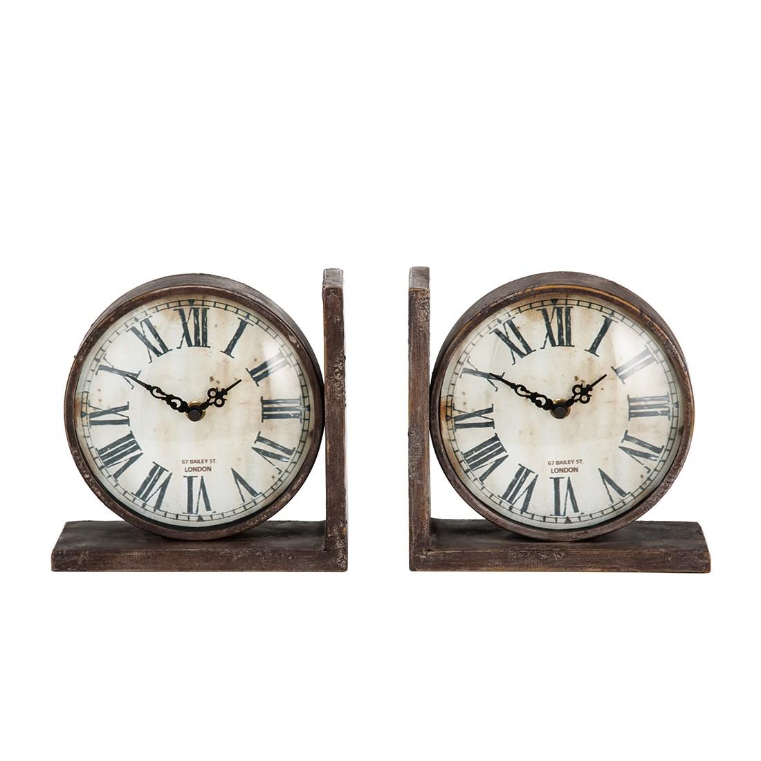 Evie Uhr Buchstütze (2er-Set) – antikbraun, Home24Deko günstig bestellen