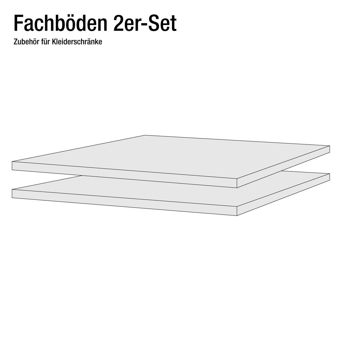 Fachboden New Orleans (2er-Set) (Breite: 60 cm)