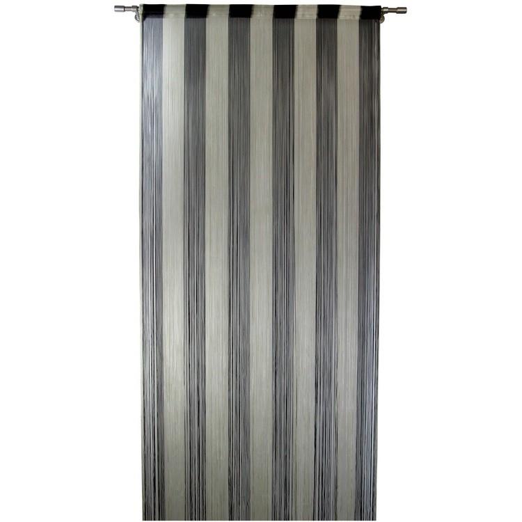 sonstige unland fadenvorhang schwarz silber t rvorhang 320 x 100 cm unland. Black Bedroom Furniture Sets. Home Design Ideas