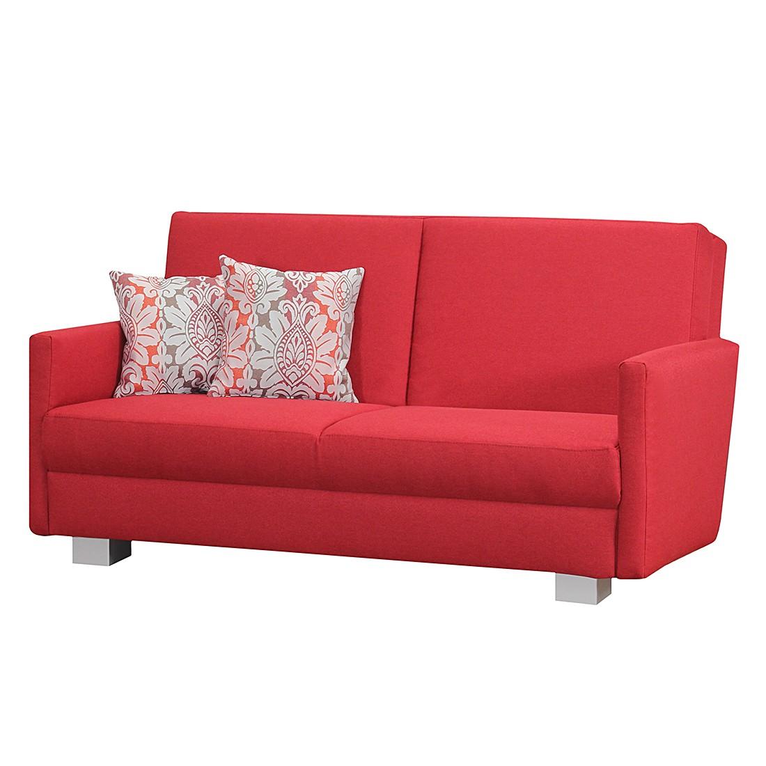 Faltsofa Roxanne (mit Schlaffunktion) – Webstoff Rot – Liegefläche: 155 x 200 cm, roomscape kaufen