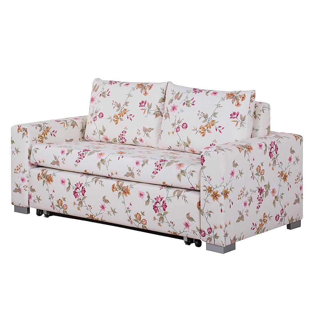 Schlafsofa Latina – Webstoff Beige/Pink geblümt – Breite: 165 cm, roomscape günstig bestellen