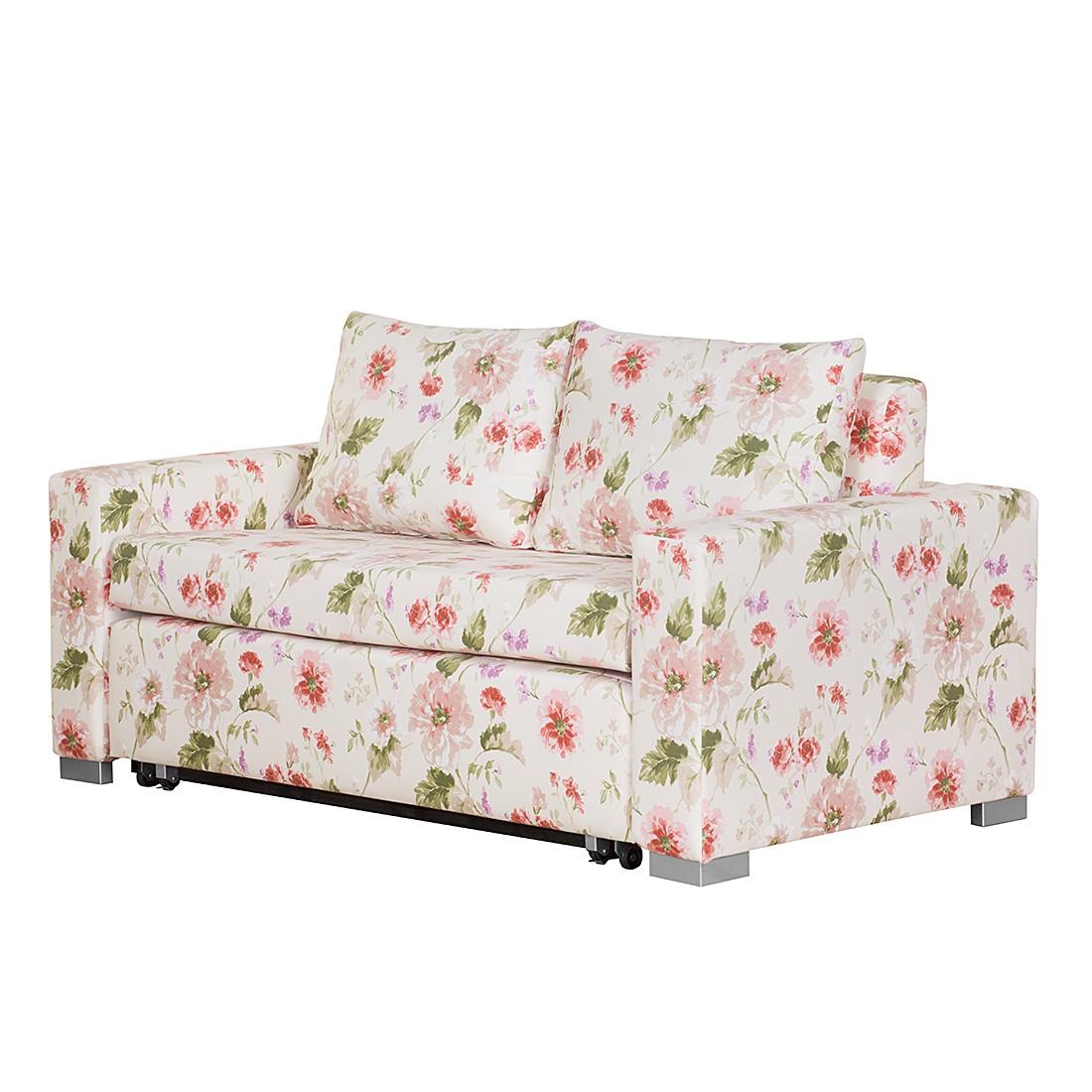 Schlafsofa Latina – Webstoff Beige/Pink geblümt, Breite: 185 cm, roomscape günstig kaufen