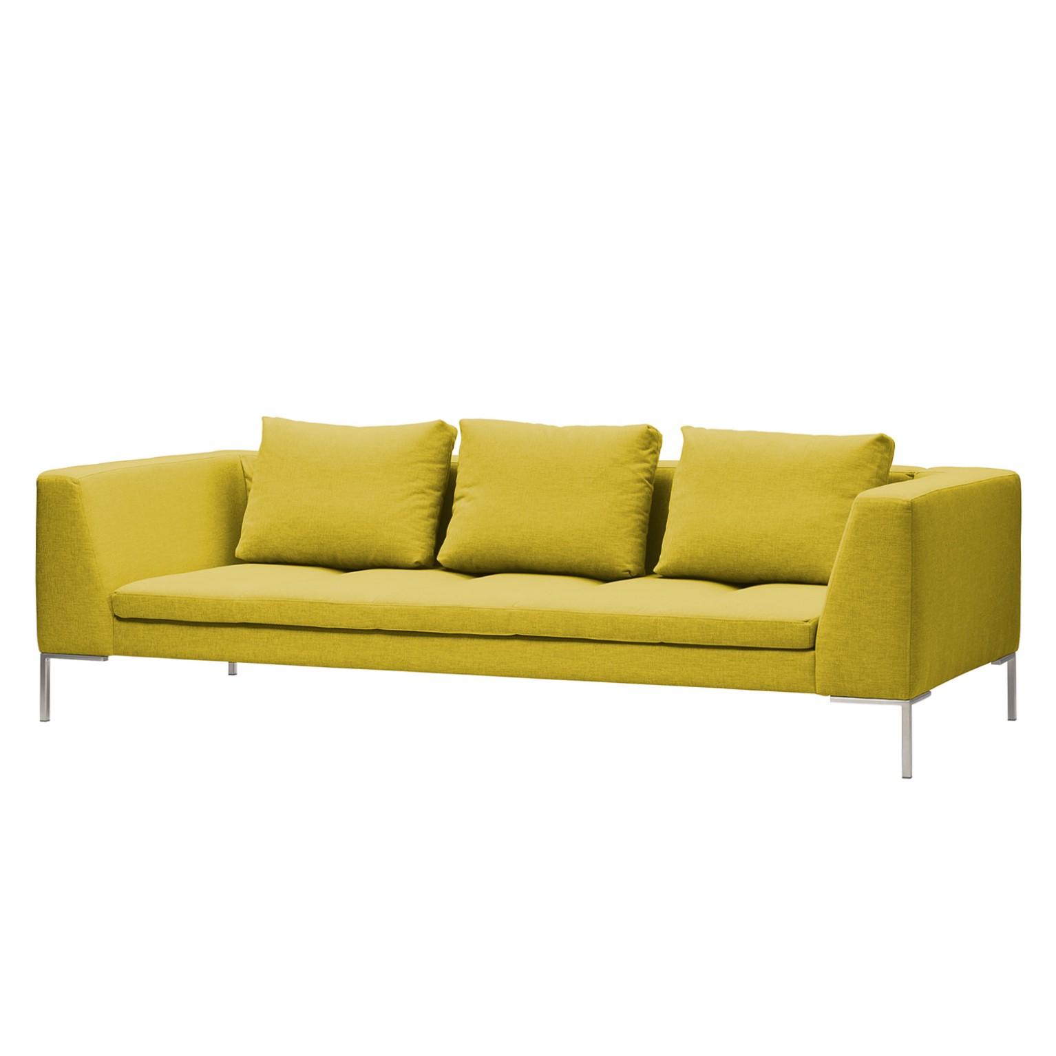 Sofa Madison (3-Sitzer) - Webstoff - Stoff Milan Gelb, Studio Copenhagen