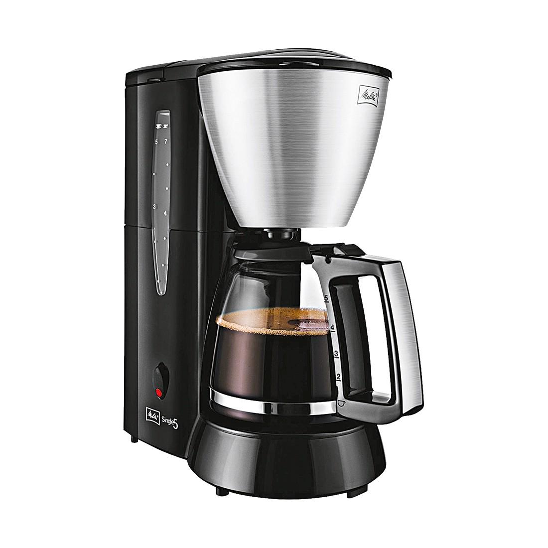 Filterkaffeemaschine Single 5 – Kunststoffgehäuse mit hochwertigen Edelstahl-Elementen – Schwarz-Edelstahl, Melitta günstig bestellen