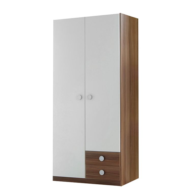 kleiderschrank finn front alpinwei korpus absetzungen franz sisch nussbaum 2 t rig. Black Bedroom Furniture Sets. Home Design Ideas