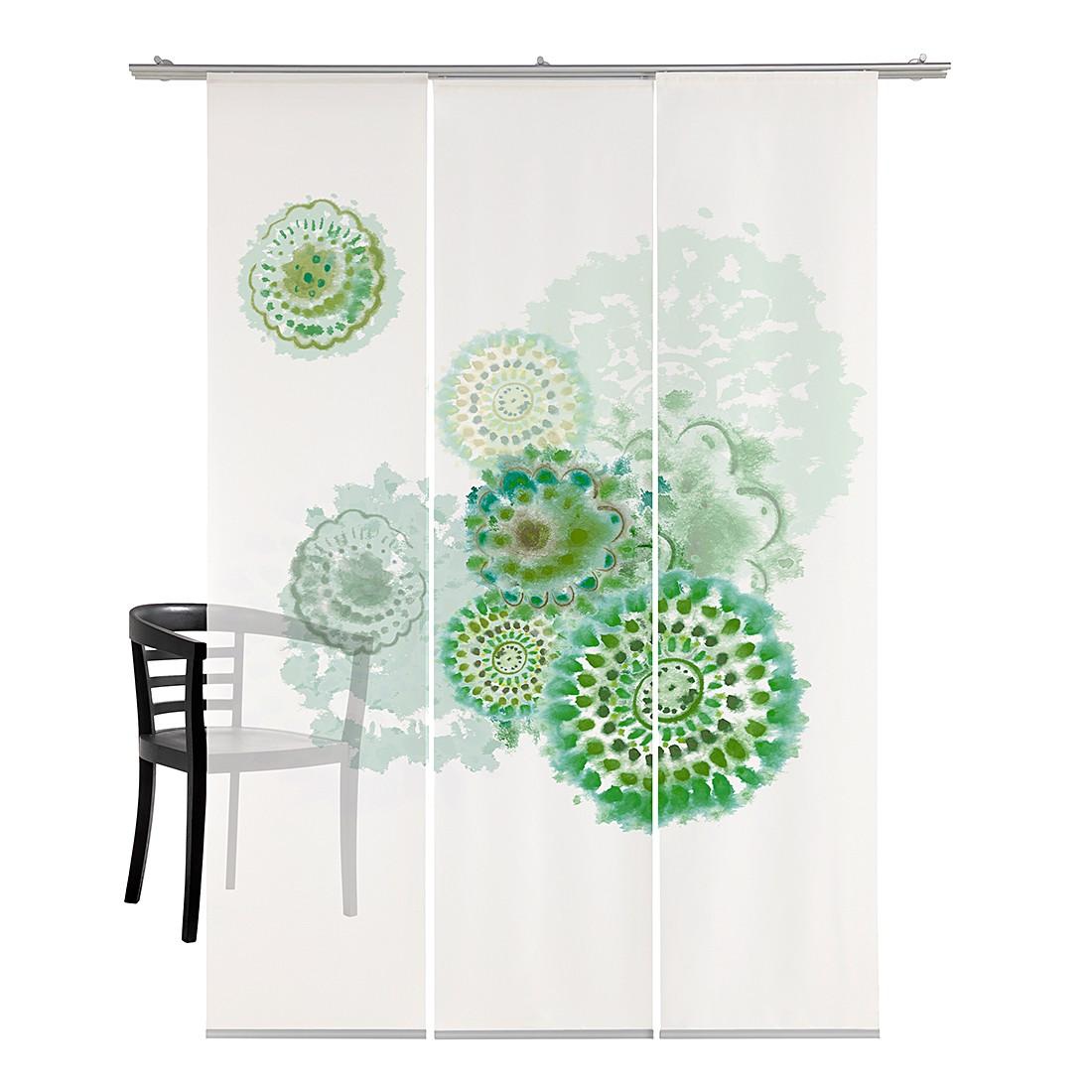 Flächenvorhang Batikblume – Grün, emotion textiles bestellen