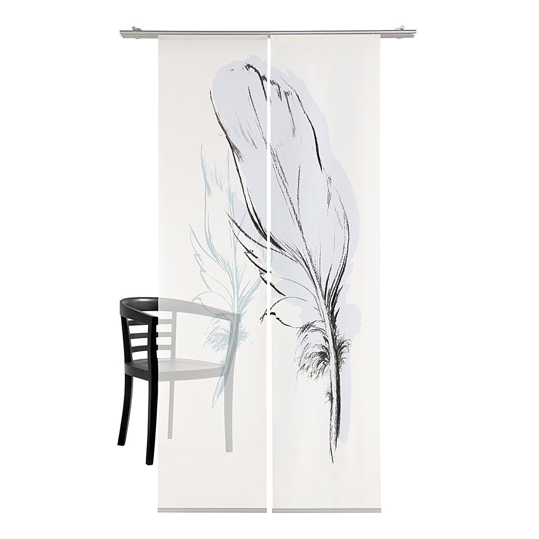Flächenvorhang Konturfeder – Hellblau, emotion textiles jetzt kaufen