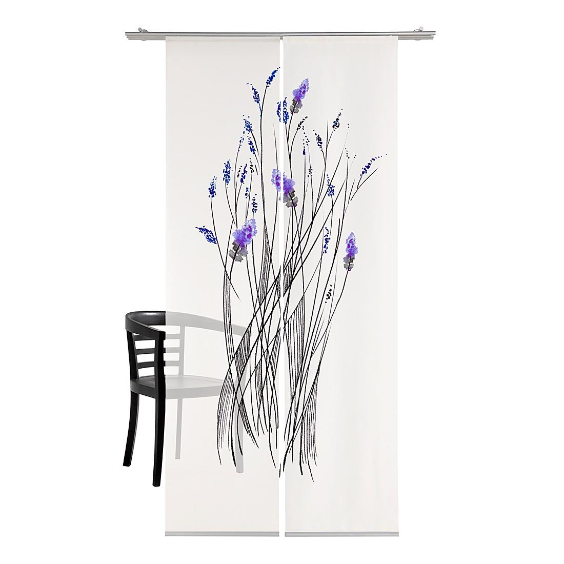 Flächenvorhang Little Inkflower – Blau, emotion textiles günstig kaufen