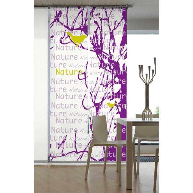 Flächenvorhang Nature – Violett, emotion textiles online bestellen