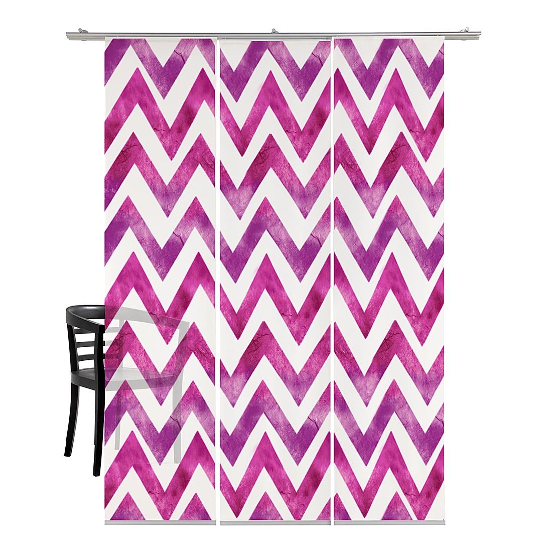 Flächenvorhang Zig-zag Batik – Pink, emotion textiles jetzt bestellen