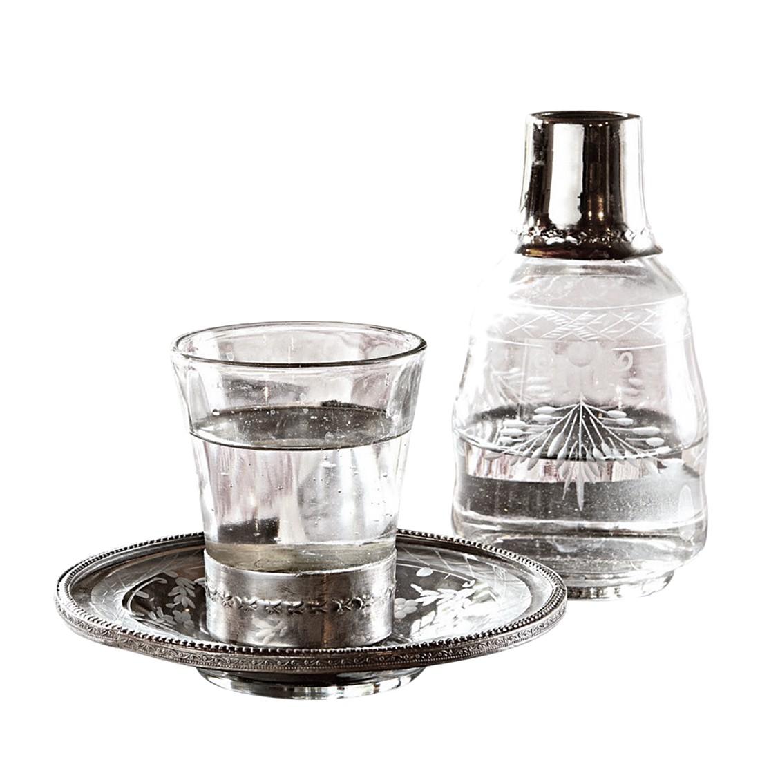 Flasche mit Glas Clarissa – Glas/Messing klar, Loberon bestellen