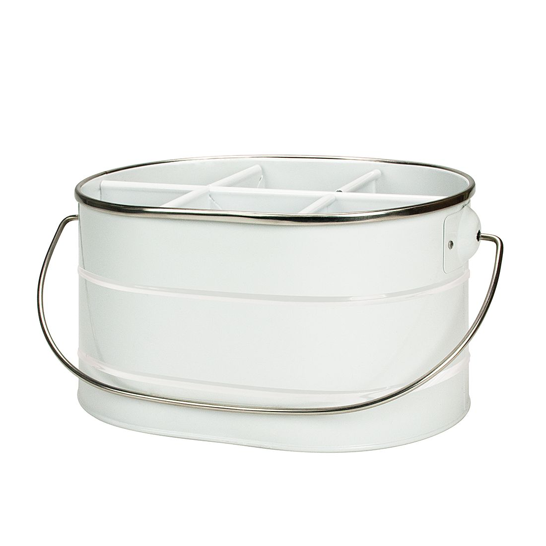 Flaschenträger Eddy – Metall Weiß, Contento günstig