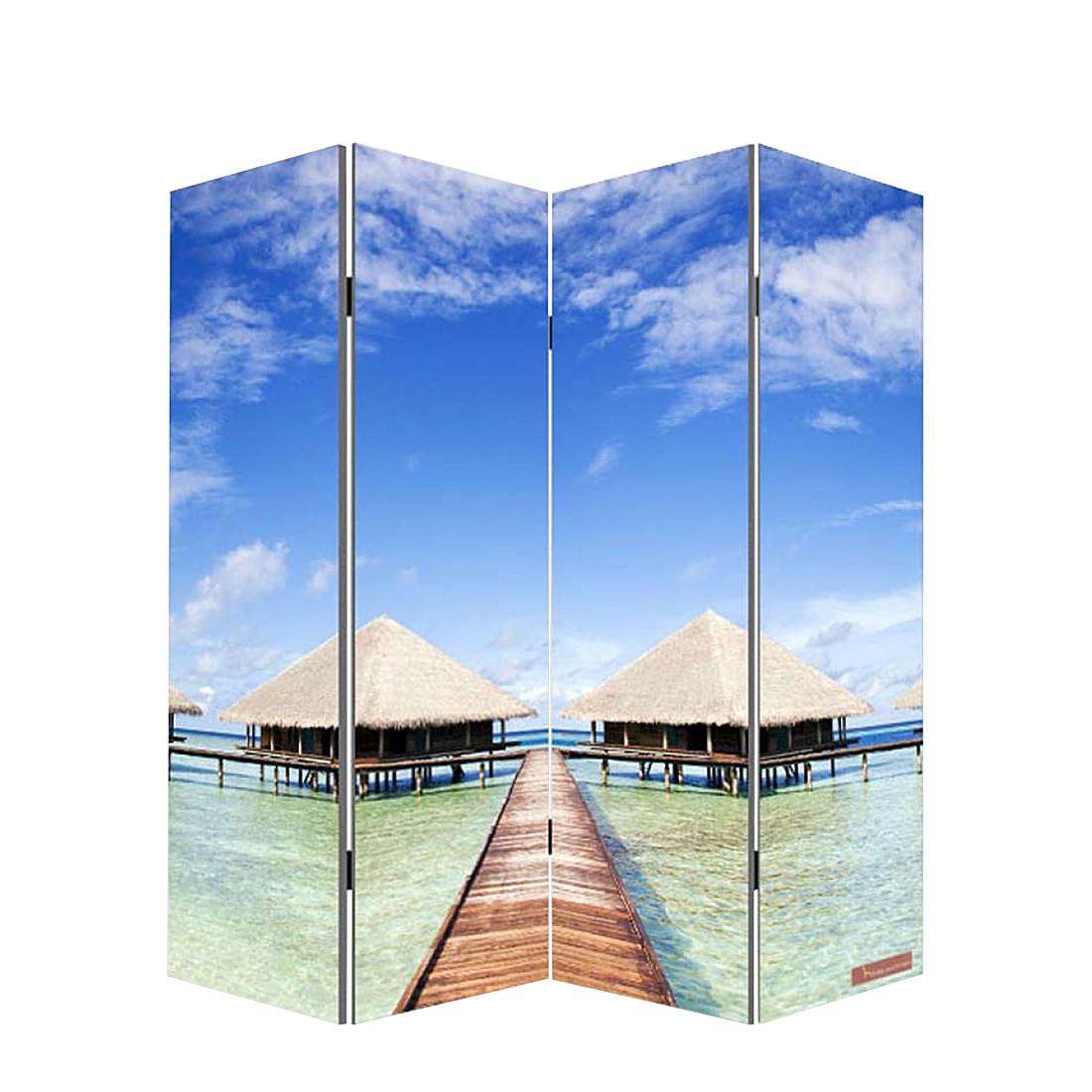 Foto-Paravent Somme - 4 Panels - 80x160cm - Strand