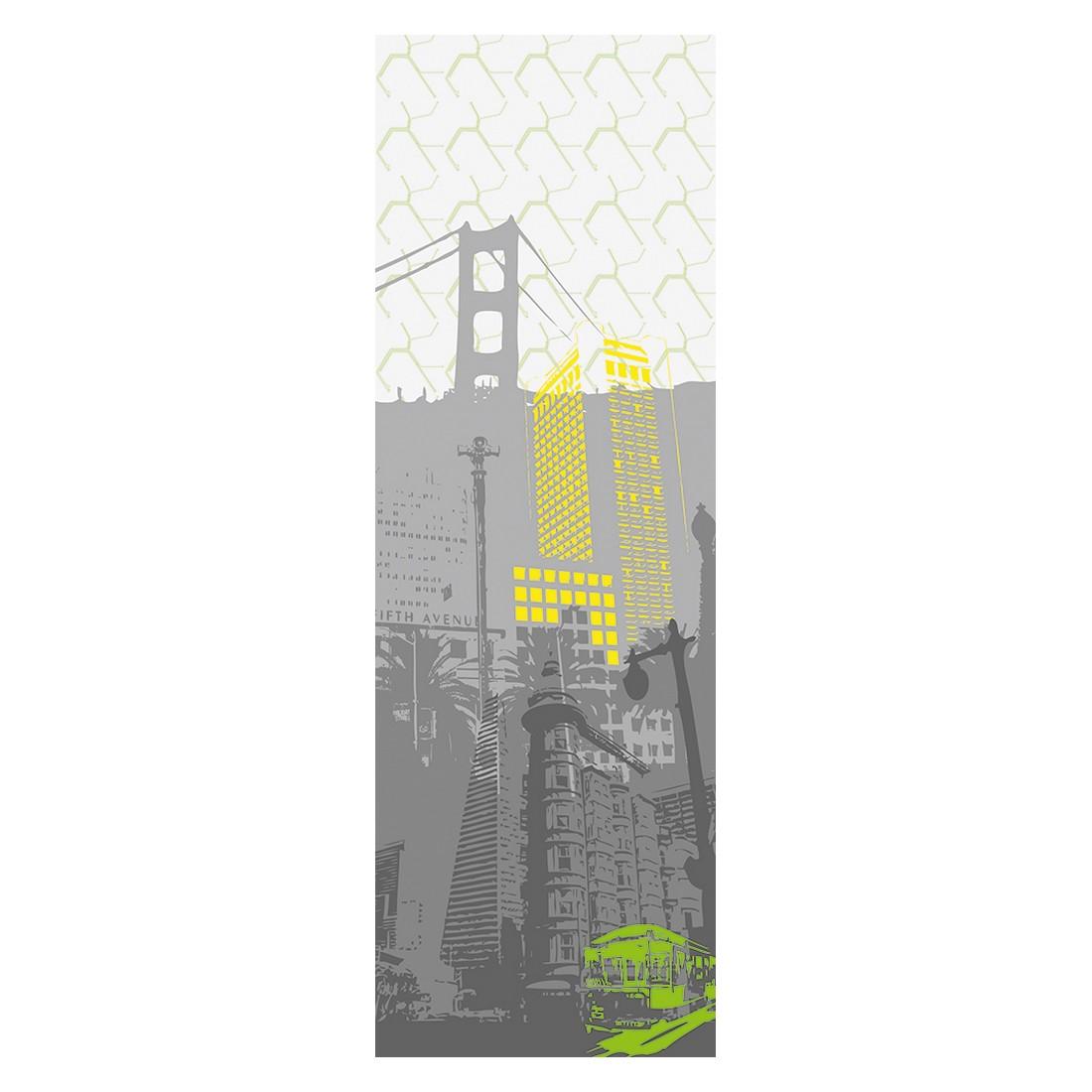 Decopanel San Francisco – grau, weiß, gelb, grün – glatt, Architects Paper günstig kaufen