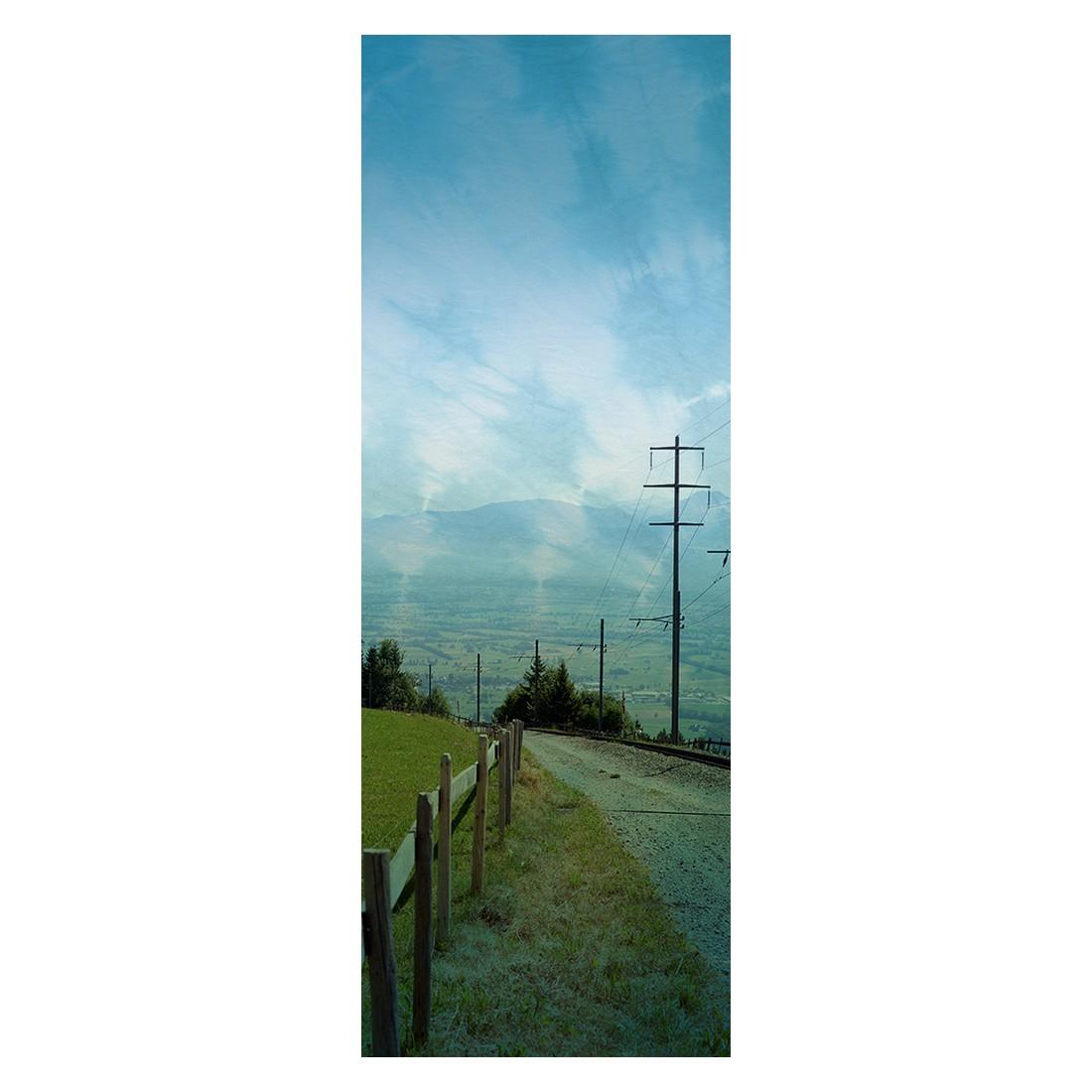 Decopanel Take a walk – blau, grün, weiß – glatt, Architects Paper günstig online kaufen