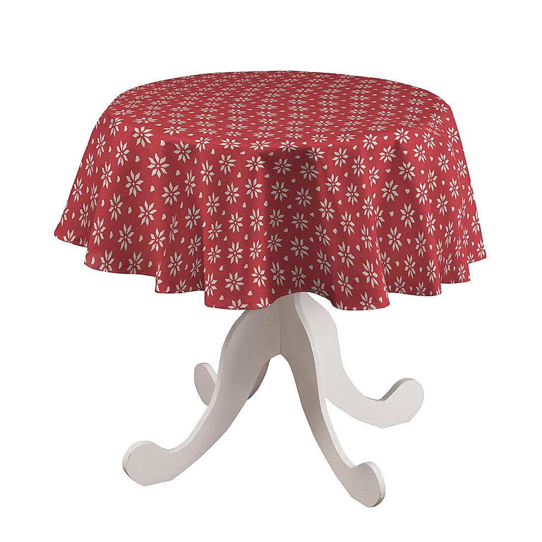 Tischdecke Stern Rund – Rot – Ø 135 cm, Dekoria jetzt bestellen