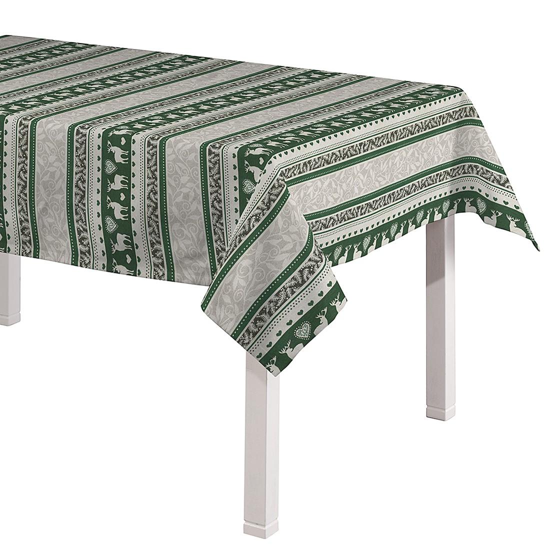 Tischdecke Renntier – Grün – 130 x 130 cm, Dekoria online kaufen