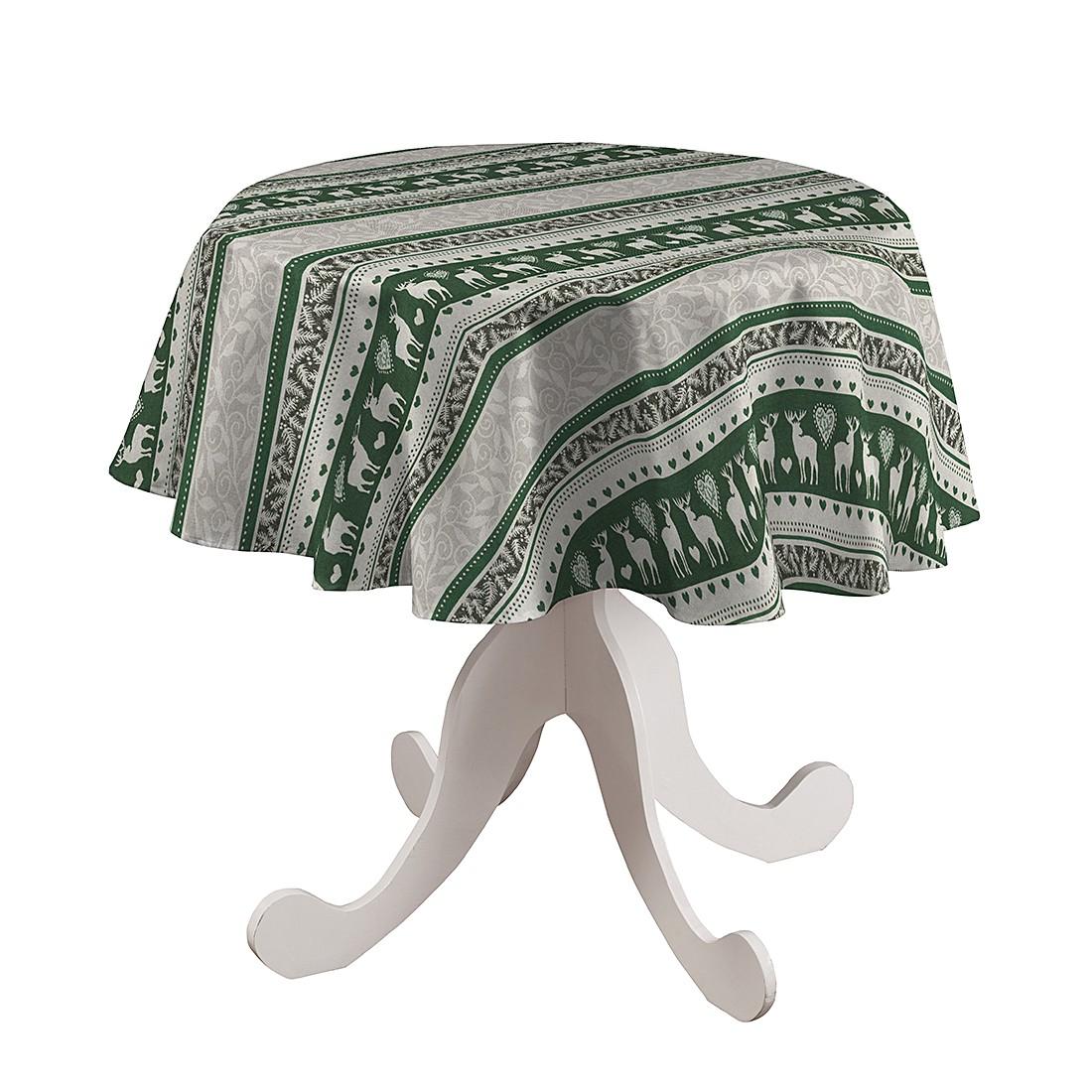 Tischdecke Renntür Rund – Grün – Ø 135 cm, Dekoria günstig bestellen
