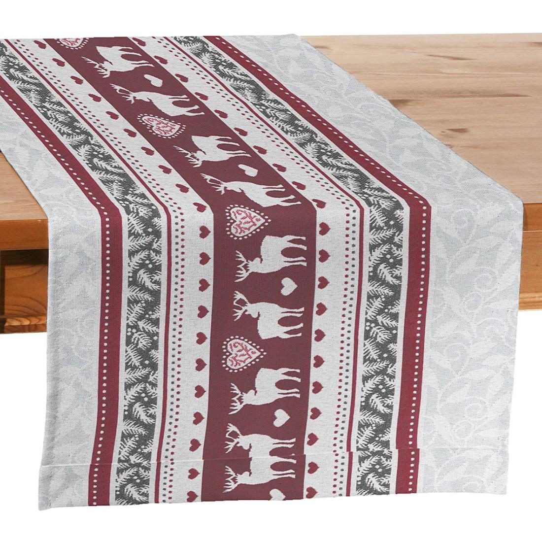 Tischläufer Renntier – Grau / Rot, Dekoria jetzt kaufen