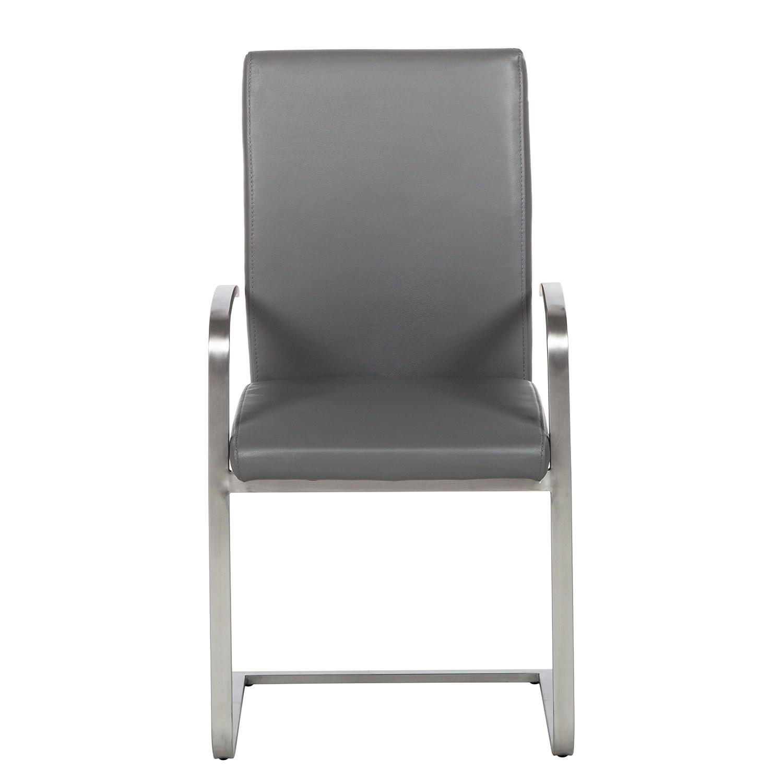freischwinger augusta i 2er set mit armlehnen grau. Black Bedroom Furniture Sets. Home Design Ideas