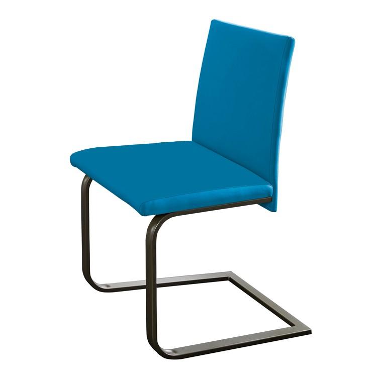 Freischwinger Lamar – Blau / Edelstahl, loftscape günstig bestellen