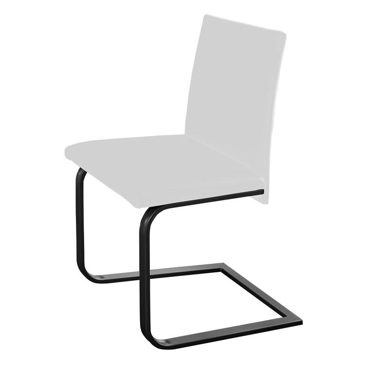 Freischwinger Lamar – Weiß / Schwarz, loftscape bestellen