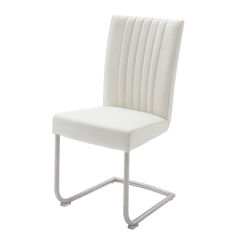 freischwinger laney 2er set kunstleder edelstahl wei geb rstet topdesign g nstig kaufen. Black Bedroom Furniture Sets. Home Design Ideas