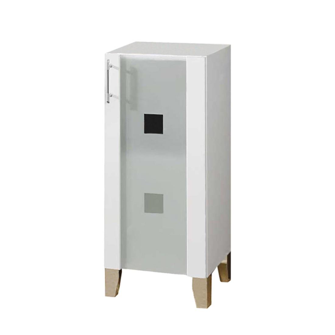 Badschrank Weiß Poco : Badschrank Poco  MDFSpanplatte  Anthrazit HochglanzSilber  Modell