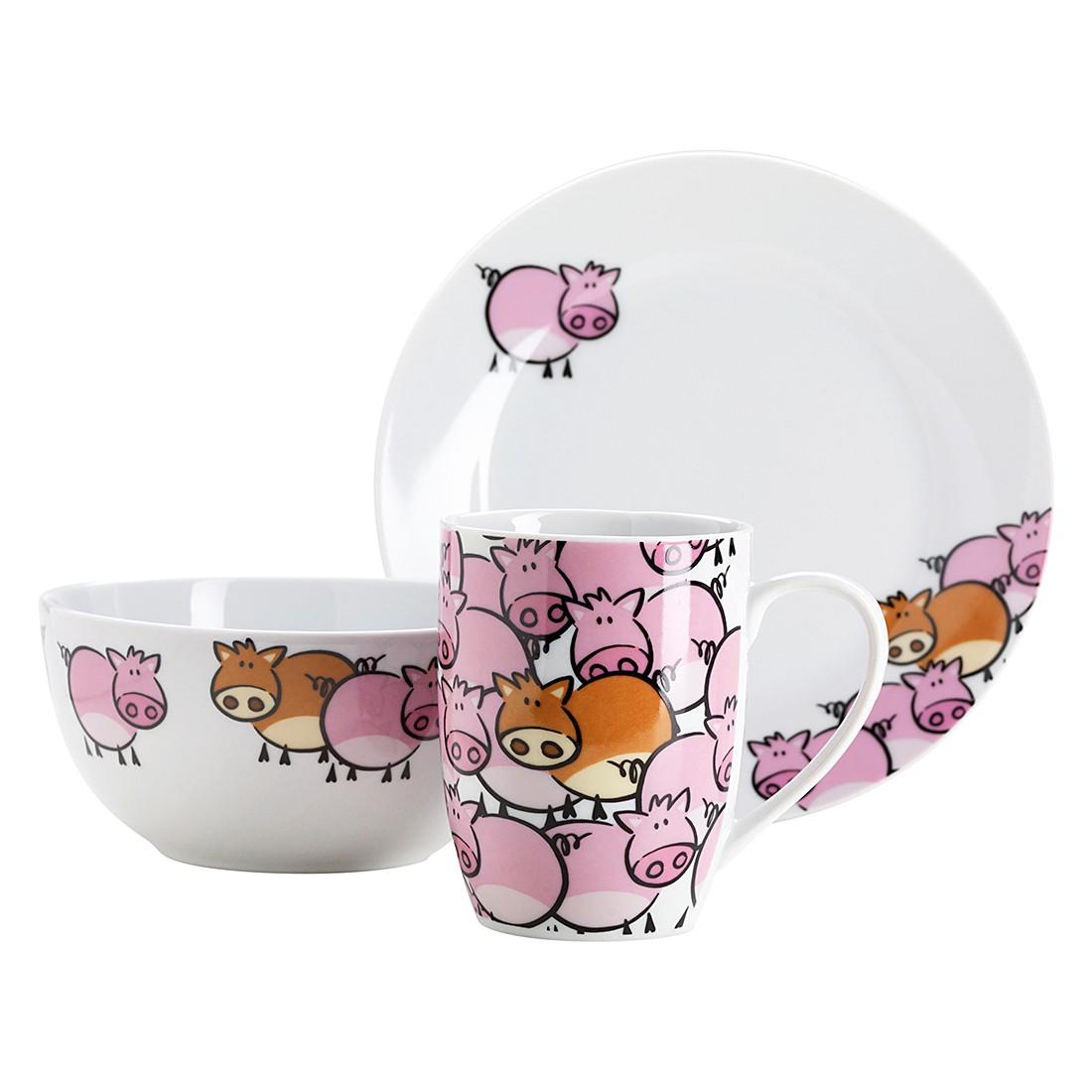 Frühstücksset Pink Pig (3-teilig), Mäser online kaufen